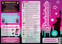 A4 tri-folded menu