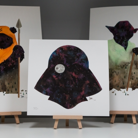 All three limited edition giclée prints