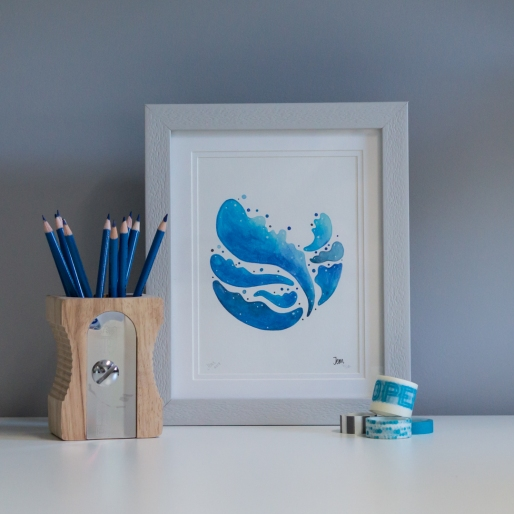 Blue Planet print framed