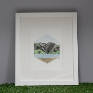 Cwm Idwal, framed original