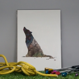 Wolf Mountain print (A4)