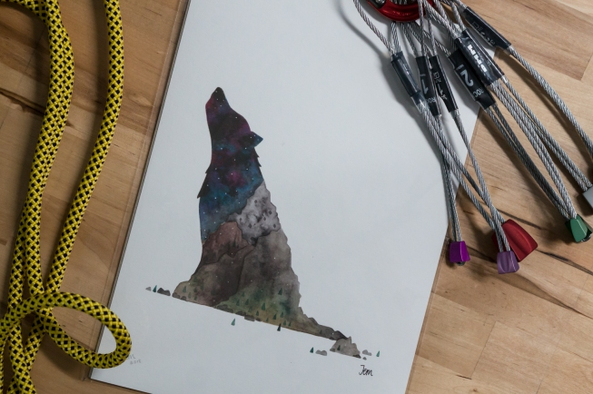 Wolf Mountain A4 art print