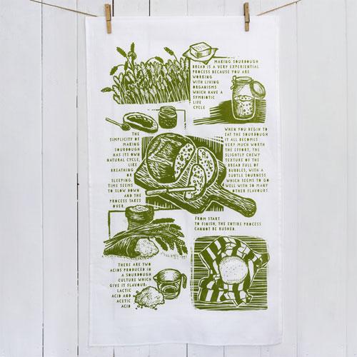 Sourdough tea towel by John Bloor Design