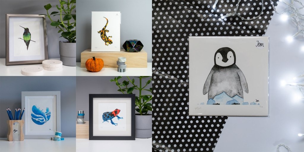 Mini art prints by Jem Loves to Draw