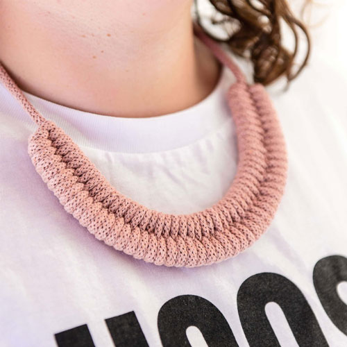 Woven necklace kit by Stitching Me Softly