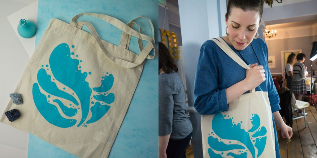 Blue Planet tote bag by Jem Loves to Draw
