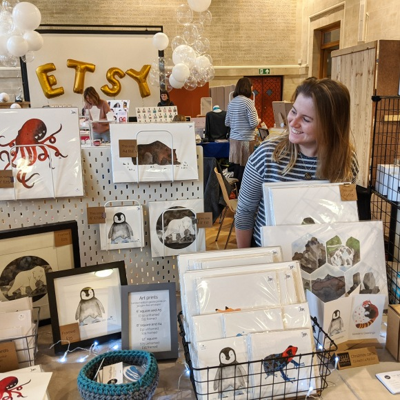 Jem at her market stall at the 2019 Etsy Made Local event
