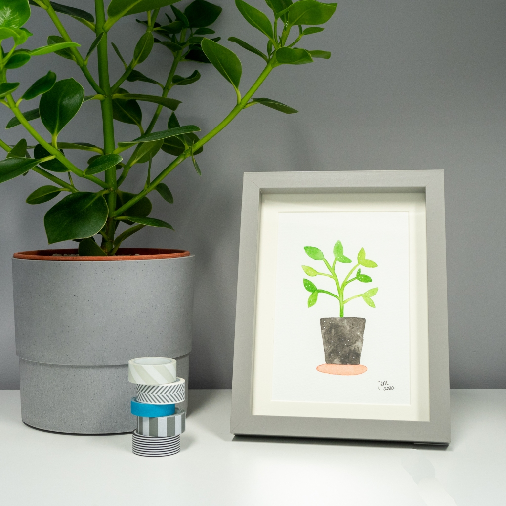 Favourite Houseplant mini original by Jem Loves to Draw